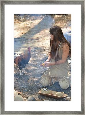 Indian Girl Framed Print by Richard Jenkins