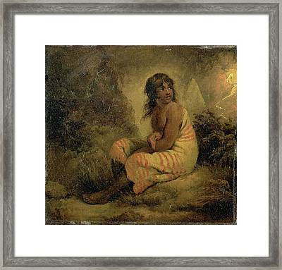 Indian Girl Signed And Dated, Upper Left G Morland | 1793 Framed Print by Litz Collection