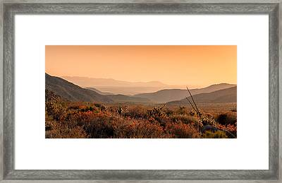 Indian Gorge Sunrise Framed Print by Joseph Smith