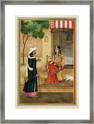 Indian Harlot Framed Print by British Library