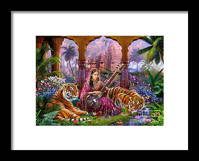 Indian Woman Framed Prints