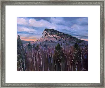 Indian Head In Lincoln New Hampshire Framed Print