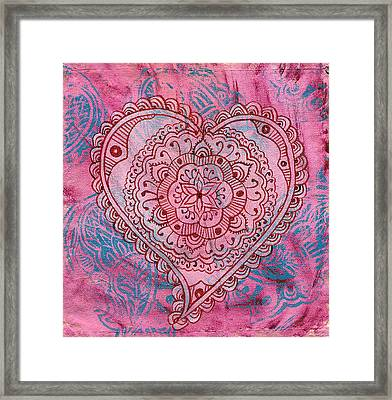 Indian Heart Framed Print