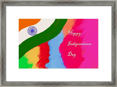 Indian Independence Day Framed Print