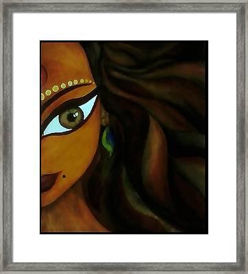 Indian Lady  Framed Print by Sivaanan Balachandran