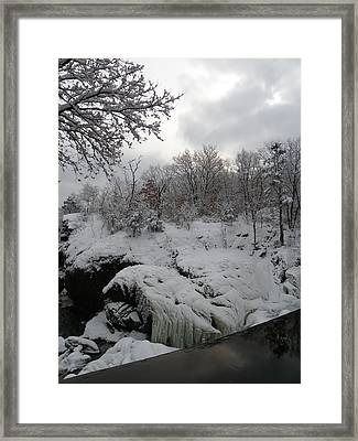 Indian Leap In Winter Framed Print