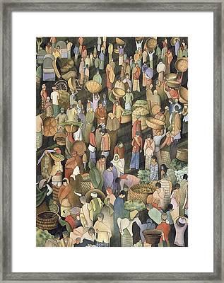 Indian Market Framed Print by Anne Havard