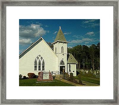 Indian Mission United Methodist Church Harbeson Delaware Framed Print by Pamela Hyde Wilson