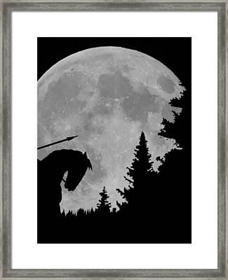 Indian Moon Framed Print by Ernie Echols