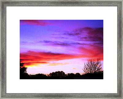 Indian Morning Sky Framed Print