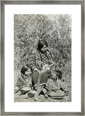 Framed Print featuring the photograph Indian Mother With Daughters by Charles Beeler