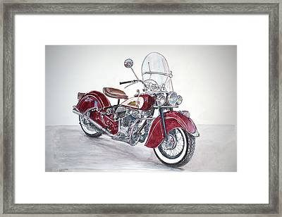 Indian Motorcycle Framed Print by Anthony Butera