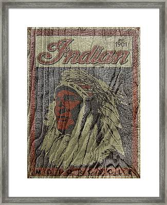 Indian Motorcycle Postertextured Framed Print