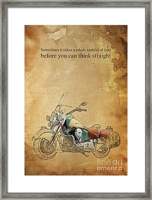 Indian Motorcycle Quote Framed Print by Pablo Franchi