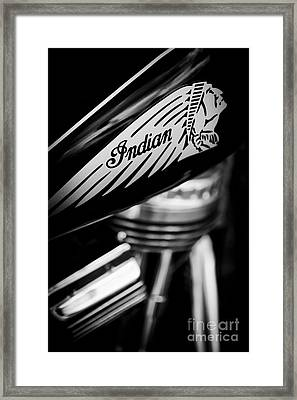 Indian Motorcycle Framed Print by Tim Gainey