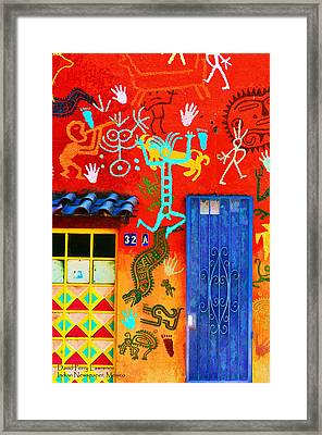 Indian Newspaper - Mexico Framed Print by David Perry Lawrence