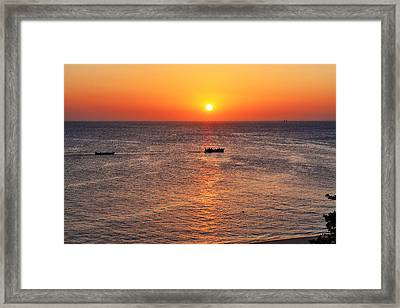 Indian Ocean Evening Scene Framed Print