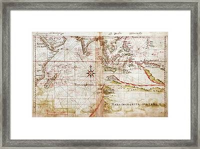 Indian Ocean Framed Print by Library Of Congress, Geography And Map Division