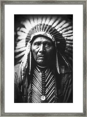 Indian Of North America Circa 1905 Framed Print