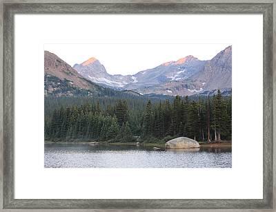 Indian Peaks Framed Print