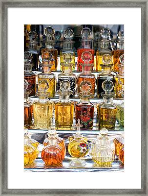 Indian Perfume Bottles Framed Print by Tim Gainey