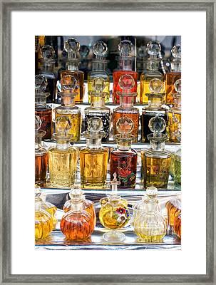 Indian Perfume Bottles Framed Print
