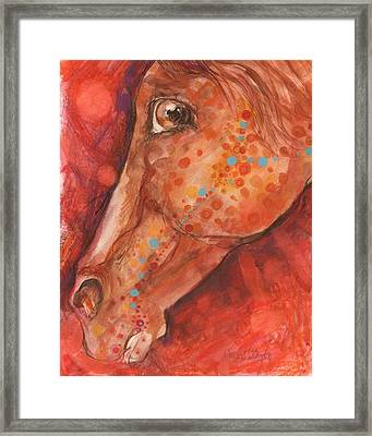 Indian Pony Framed Print by Mary Armstrong