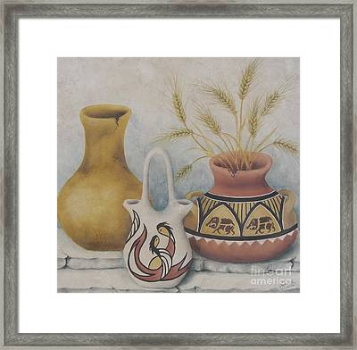 Indian Pots Framed Print by Summer Celeste