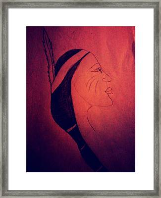 Indian Pride 2 Framed Print by Erica  Darknell