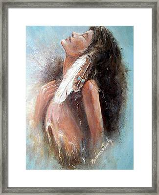 Indian Princess Framed Print