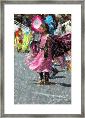 Indian Princess Dancer Framed Print by Kathleen Struckle