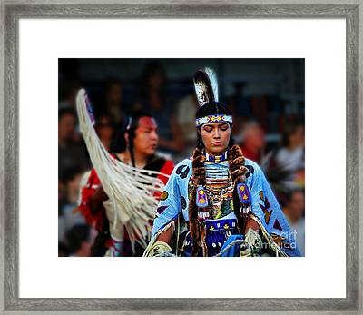 Indian Princess Framed Print by Scarlett Images Photography
