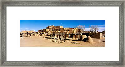 Indian Pueblo, Taos, New Mexico, Usa Framed Print