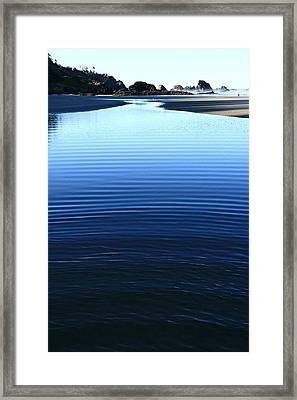 Indian Ripples Framed Print