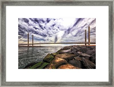 Indian River Bridge Clouds Framed Print