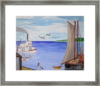 Indian River Commerce-1900 Framed Print by Bill Hubbard