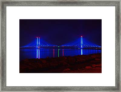 Indian River Inlet Bridge After Dark Framed Print