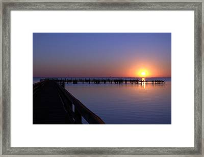 Indian River Sunrise Framed Print by Brian Harig