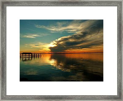 Framed Print featuring the photograph Indian River Sunset by Elaine Franklin