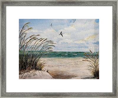 Indian Rocks Beach  Framed Print