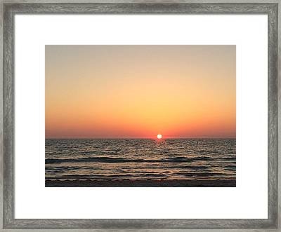 Indian Rocks Sunset 1 Framed Print