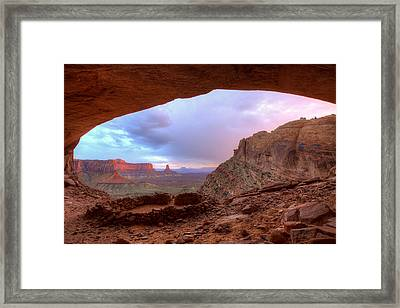 Indian Ruins Framed Print by Peter Irwindale