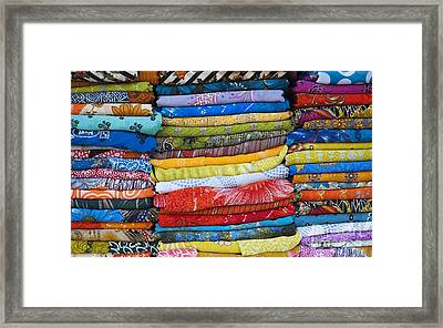 Indian Sari Pattern Framed Print by Tim Gainey