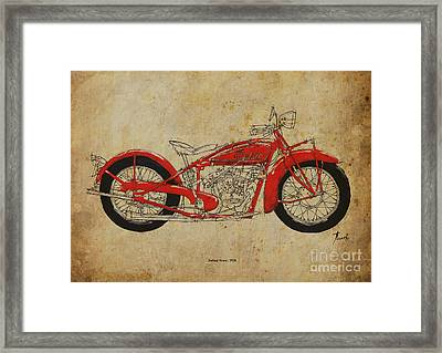 Indian Scout 1928 Framed Print by Pablo Franchi