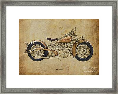Indian Scout 1932 Framed Print