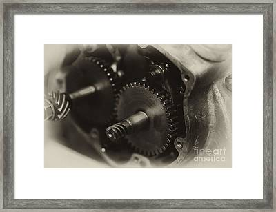 Indian Scout Racer Crankcase Framed Print by Wilma  Birdwell