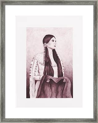 Indian Sioux Maiden Framed Print by Billie Bowles