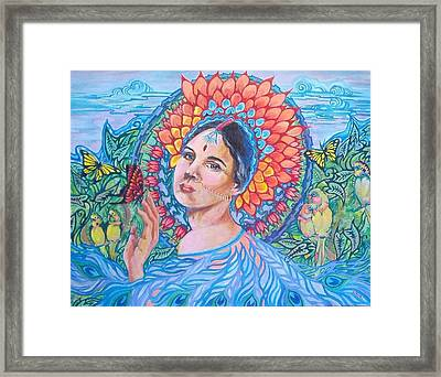 Framed Print featuring the painting Indian Spring by Suzanne Silvir