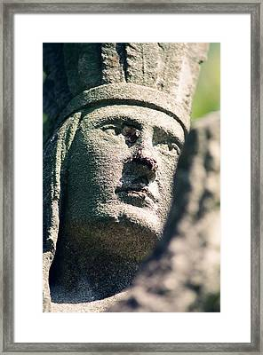 Indian Statue Framed Print by Retro Images Archive