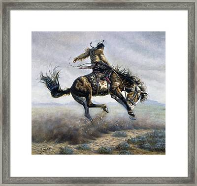 Indian Style Framed Print by Gregory Perillo